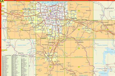 amazing indonesia jabodetabek maps
