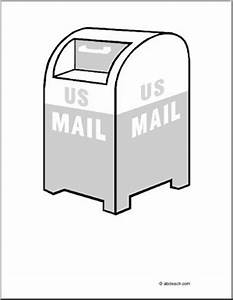 Coloring Page: US Mail   abcteach