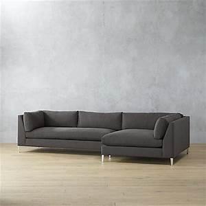 Decker 2 piece grey sectional sofa for Decker 2 piece sectional sofa