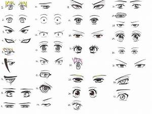 Manga eyes, male & female | Drawing How to's | Pinterest ...