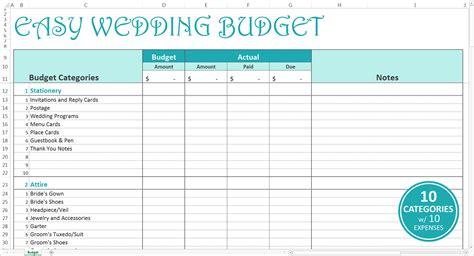 wedding cost breakdown spreadsheet google spreadshee