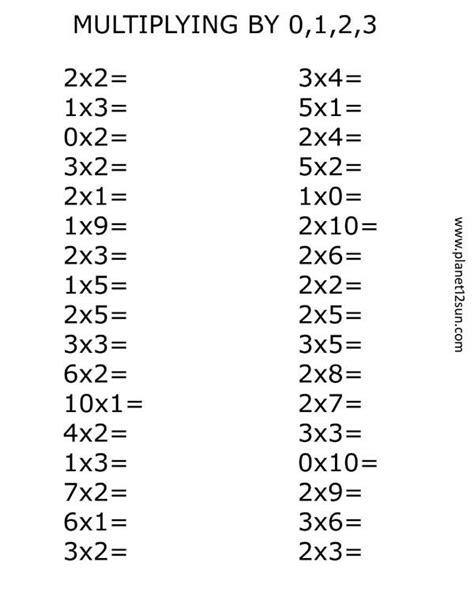 printables  kids multiplication worksheets