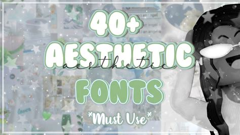 popular aesthetic fonts    names links youtube   aesthetic fonts