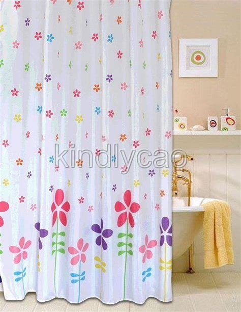 colorful shower curtains colorful floral flowers design bathroom fabric shower