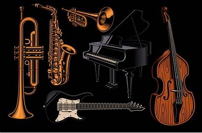 Instruments Musical Different Vector Illustrations Clipart