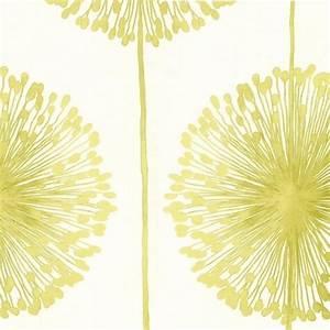Muriva Dandelion Floral Wallpaper Cream, Lime Green ...