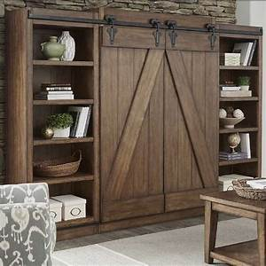 Lancaster Rustic Sliding Barn Door Wal Furniture And
