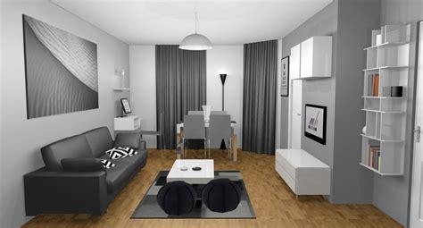 decoration salon design gris  blanc