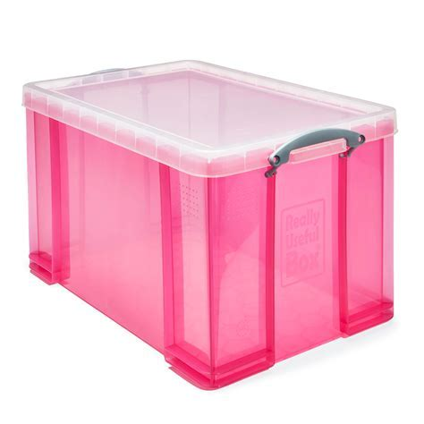 Really Useful Pink 84L Plastic Storage Box   Departments