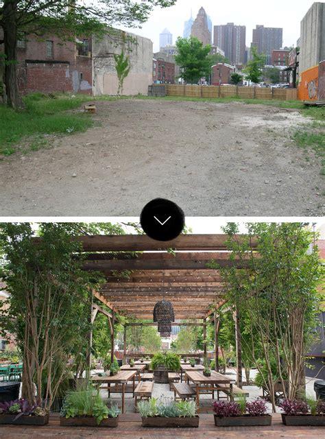 pop up garden before after south philadelphia pop up garden