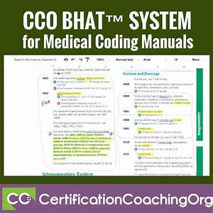 Cco Bhat U2122 System For Medical Coding Manuals