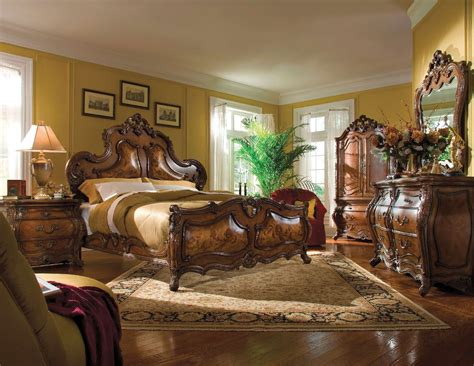 michael amini palais royale rococo cognac finish bedroom