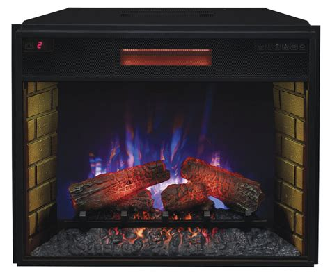 fireplace inserts electric 28 quot spectrafire infrared quartz electric fireplace insert
