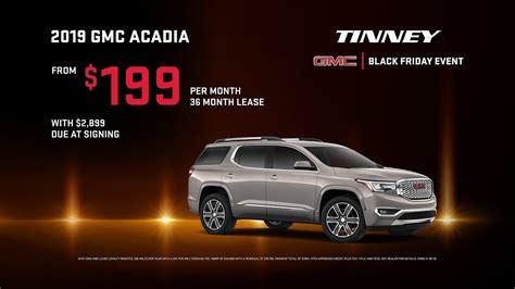 gmc acadia lease deals price rebates incentives