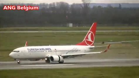 Landing Of Turkish Airlines Boeing 737 800 Winglets In