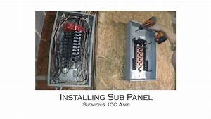 How To Install An Electric Sub Panel And Tie  U2013 Car Wiring