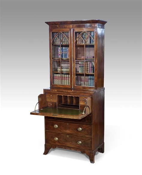 bureau secretaire small secretaire bookcase antique bureau bookcase