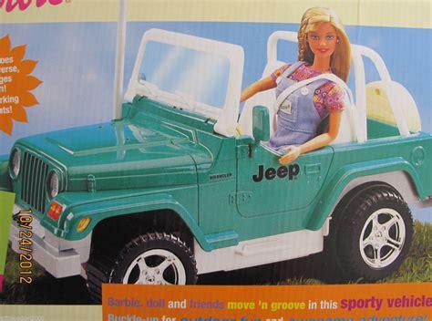 barbie jeep 2000 barbie car radio control jeep wrangler vehicle working