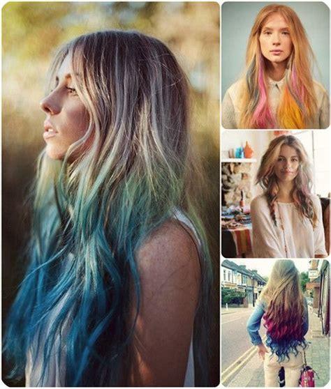 easy    dip dye ombre color hair ideas
