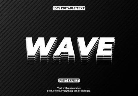 white text effect  outline shadow text effects vector   text effect