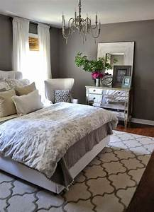 Bedroom: Charcoal Grey Wall Color For Colonial Bedroom