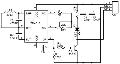 metal detector schematic and pcb layout using tda0161 circuit ideas i projects i schematics i