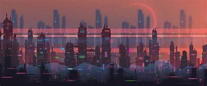 Pixel Retro Futuristic Vice Waneella Background Gifs