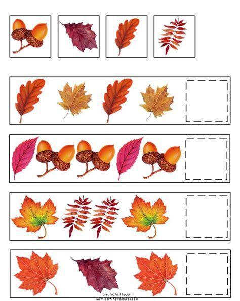 fall pattern skills math worksheet by learning treasures 873 | 02d2c922ac1aab30e2ae293466fc84d6