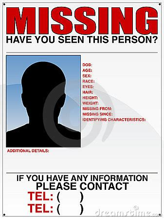 missing persons report    remember