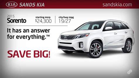 Sands Kia by 2015 Kia Sorento Purchase Special Sands Kia January 2015