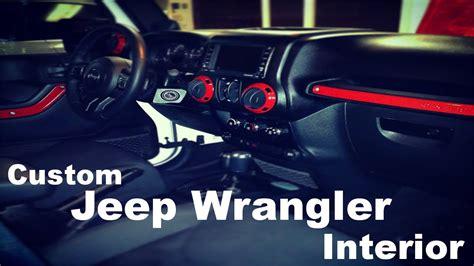 custom jeep interior mods diy custom jeep wrangler interior part 1 youtube