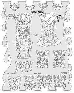 tiki master tiki bar template stencils pinterest With tiki letter stencils