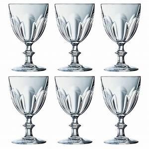 Verres à Vin Pas Cher : delicieux cristal d arques verres 4 set de 6 verres vin 16 cl rambouillet pas cher ~ Teatrodelosmanantiales.com Idées de Décoration