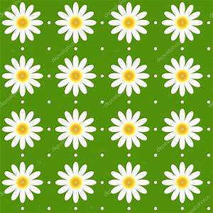 Seamless daisy pattern background texture — Stock Vector ...