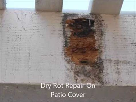 how to repair rot on patio cover