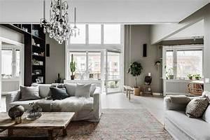 Deco Design Salon : decoration salon moderne gris deco rouge et idee couleur ~ Farleysfitness.com Idées de Décoration