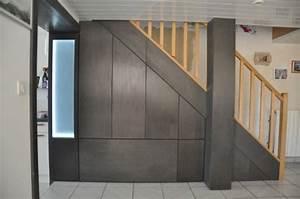 Amenager Sous Escalier : chantier placards et tiroirs sous escalier ~ Voncanada.com Idées de Décoration