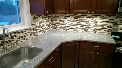 Installing Glass Mosaic Tile Backsplash  Savary Homes