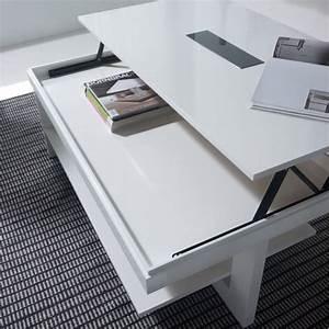 Table Basse Relevable Blanche : table basse relevable bois blanche karla mobilier ~ Teatrodelosmanantiales.com Idées de Décoration