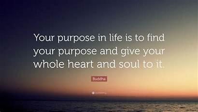 Purpose Heart Buddha Quote Give Soul Whole