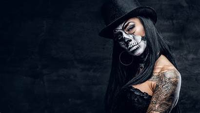 Wallpapers Dead Tattoo Hat Female Makeup 3840