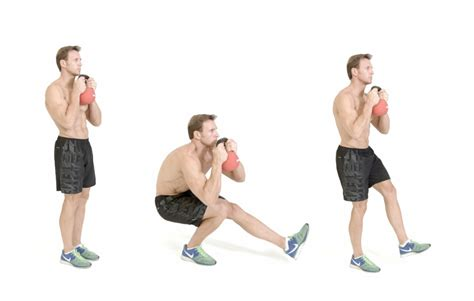 squat pistol kettlebell exercise
