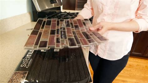 how to install a kitchen backsplash how to install sticktile peel stick backsplashes in 5