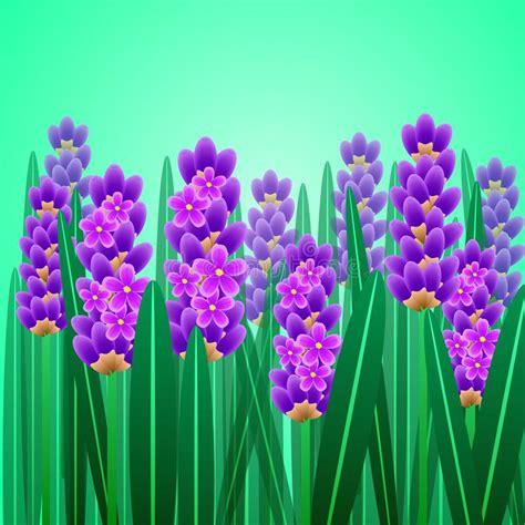 grazie dei fiori testo carta elegante della lavanda illustrazione vettoriale