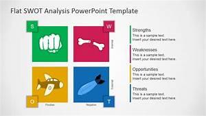 free flat swot analysis presentation template slidemodel With swot analysis ppt template free download