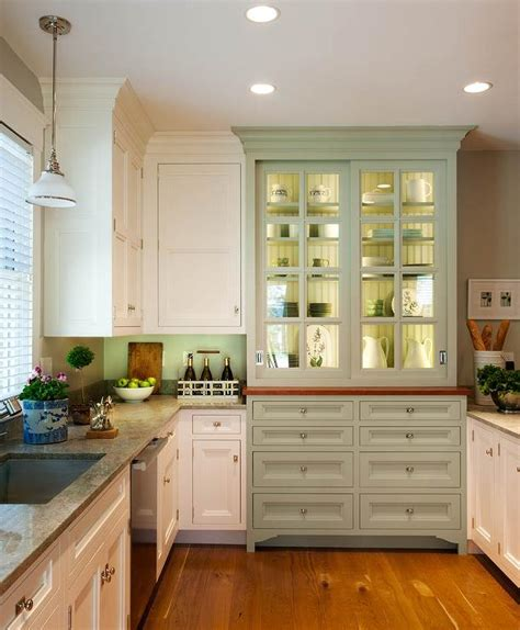 Integrated Hutch Cabinet   Country   kitchen   Crown Point