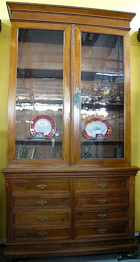 antique walnut bookcasechina cabinet richmond va ebay
