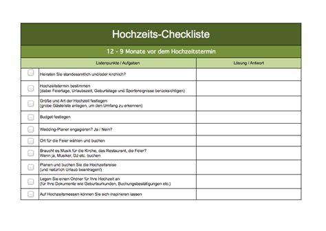 checkliste hochzeit excel vorlagen fuer jeden zweck