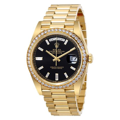 Rolex Oyster Perpetual Day-Date Black Dial Automatic Men's