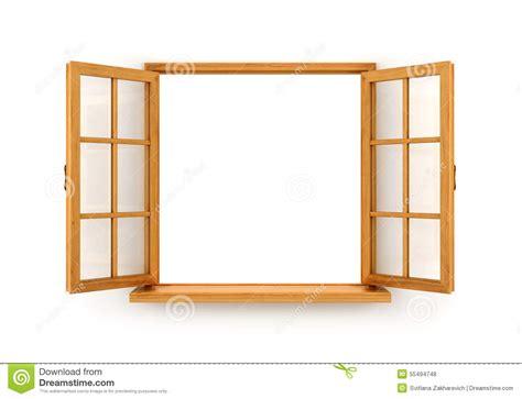 open wooden window stock illustration image